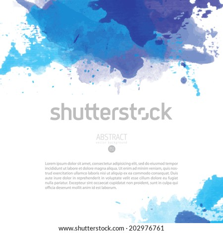 Bright colorful vector watercolor background