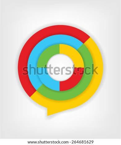 Bright Colors Design Element Infographic - stock vector