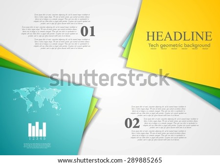 Bright corporate abstract contrast background. Vector design - stock vector