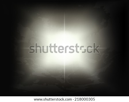 Bright Dark Moon with night sky background - stock vector