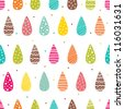 Bright drops of rain. Seamless pattern can be used for wallpaper, pattern fills, web page background, surface textures. - stock vector
