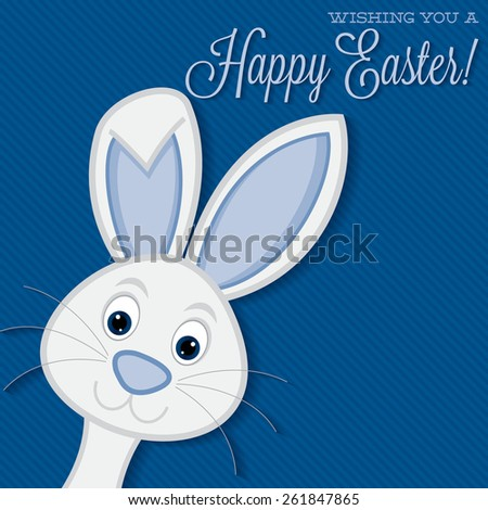 Bright Easter bunny card in vector format. - stock vector