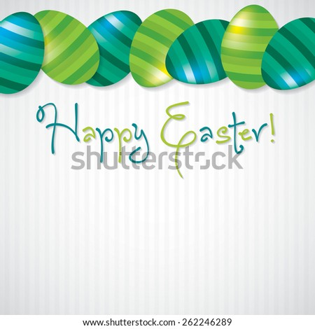 Bright Egg Happy Easter card in vector format. - stock vector