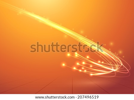 Bright electric abstract cable speed bandwidth. Vector illustration - stock vector