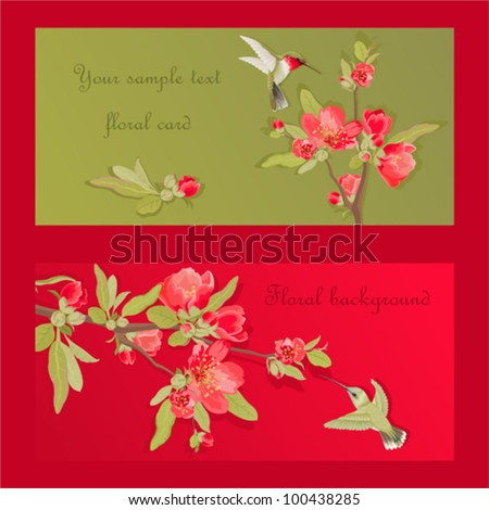 Bright festive cards with a place for your text - stock vector
