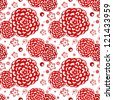Bright Floral seamless pattern on white background - stock vector