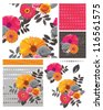 Bright Floral Seamless Patterns and elements. - stock vector