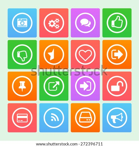 Bright gradiental icons for your product - stock vector
