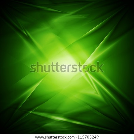 Bright green elegant background. Vector illustration eps 10 - stock vector