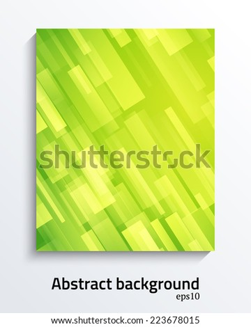 Bright green smooth abstract background. Vector illustration. - stock vector