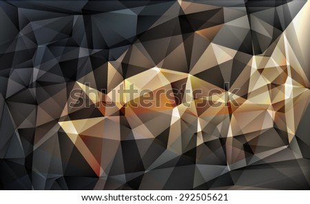 Bright grey polygon abstract bacground.Vector EPS 10 illustration. - stock vector