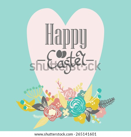 Bright Happy Easter Card Vector Easter Vector 265121438 – Easter Card Designs