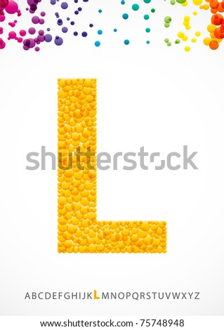 Bright letter L from the alphabet (eps10) - stock vector