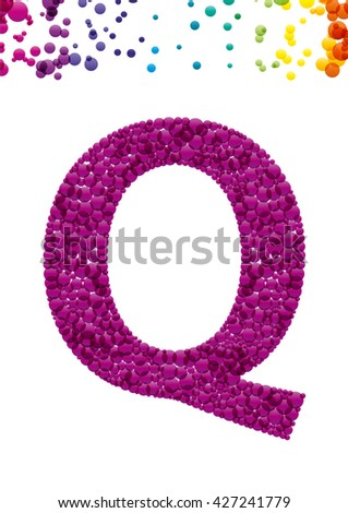 Bright letter Q from the alphabet (eps10) - stock vector