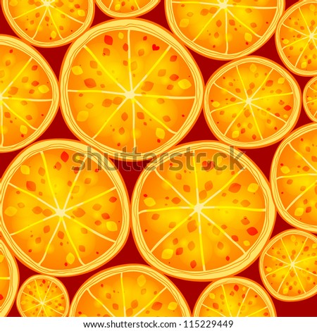 Bright lovely orange pattern