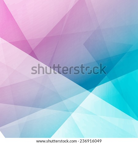 Bright modern abstract crystal structure template - polygonal glass background. Vector illustration - stock vector