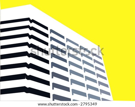 bright modern corporate office building - stock vector