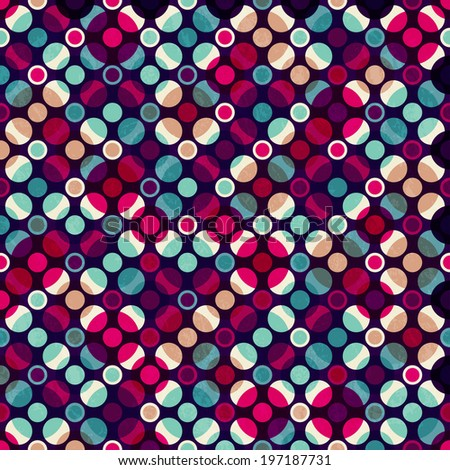 bright mosaic circle seamless pattern - stock vector