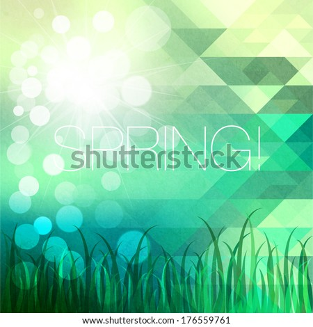 Bright mosaic spring background - stock vector