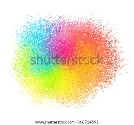 Bright neon colord paint powder vector sand texture cloud - stock vector