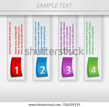 bright numbered strips - stock vector