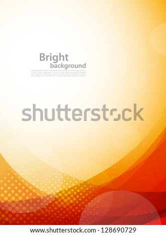 Bright orange background. Abstract colorful illustration with circles - stock vector