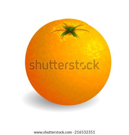 Bright orange on white background. Vector illustration - stock vector