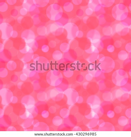 Bright pink and red bokeh abstract seamless pattern - stock vector