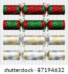 Bright plaid (tartan) Christmas crackers in vector format. - stock vector