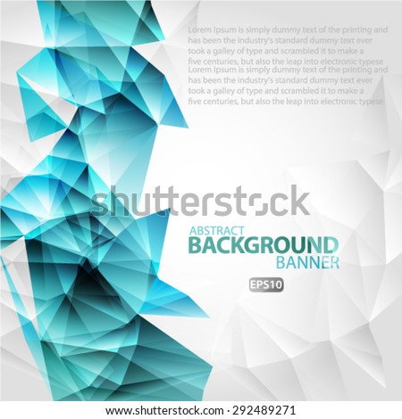 Bright polygon abstract bacground.Vector EPS 10 illustration. - stock vector