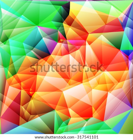 Bright  polygonal mosaic background Vector EPS 10 illustration. - stock vector