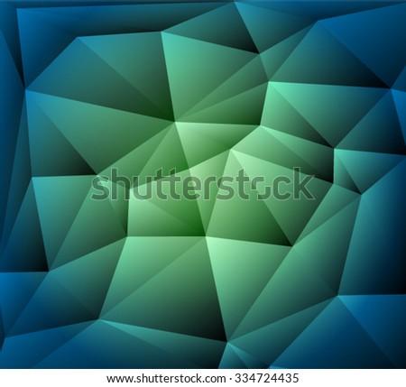 Bright polygonal mosaic background Vector EPS 10 illustration. - stock vector