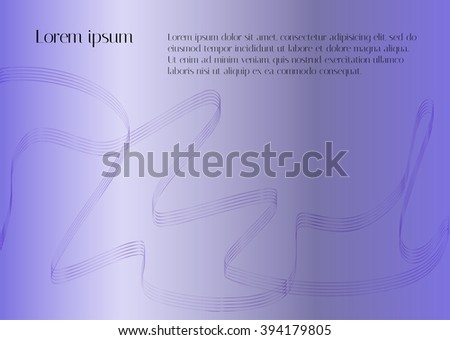 Bright purple background with smooth lines in the form of ribbons. Blend to design the directory pages, brochures and magazines. The restrained form of the original design - stock vector
