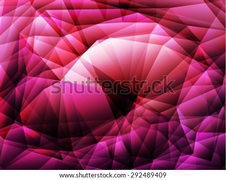 Bright purple polygon abstract background.Vector EPS 10 illustration. - stock vector