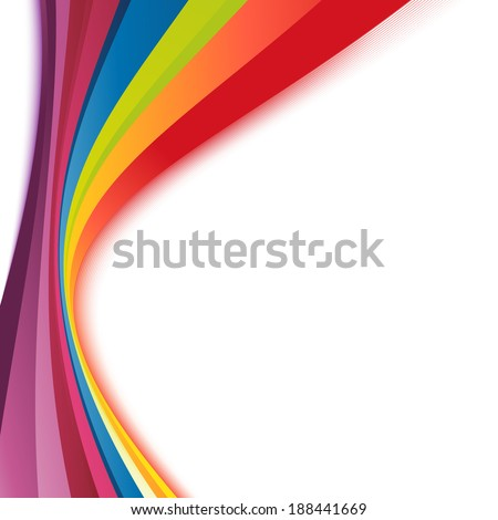 Bright rainbow swoosh lines stripes abstract. Vector illustration - stock vector