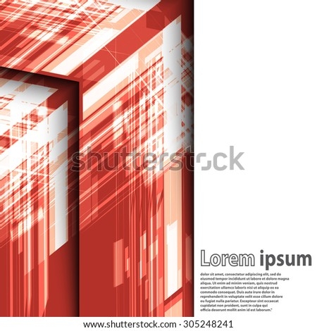 Bright red arrow abstract business modern background futuristic line layout. Vector illustration - stock vector