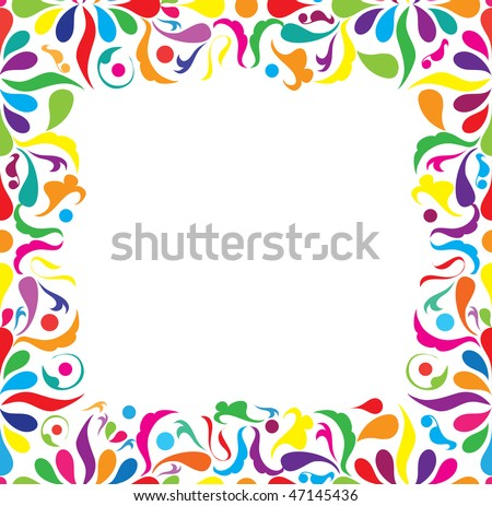 Bright seamless frame, vector illustration - stock vector