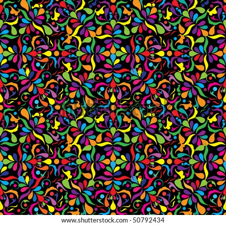 Bright seamless patten, part 2, vector illustraton - stock vector