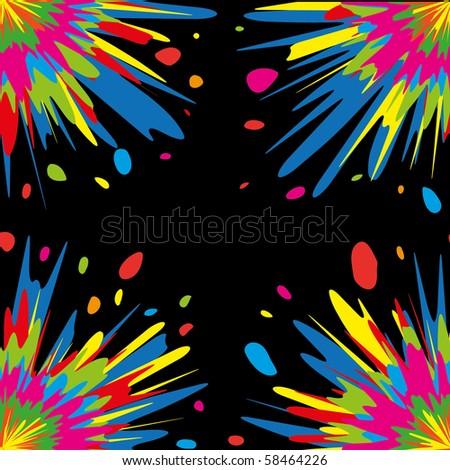 Bright seamless patten, vector illustraton - stock vector