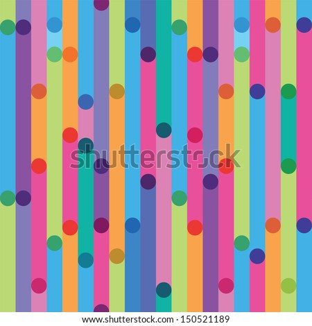 bright seamless pattern from strips - stock vector