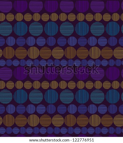 Bright seamless pattern with colorful linear rounds. Endless geometric shiny ethnic texture. Template for design and decoration - stock vector