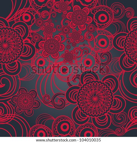 Bright seamless vector texture with indian pattern - stock vector