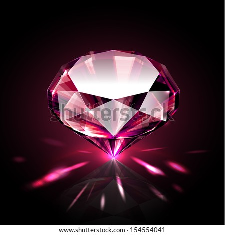 Bright shimmering ruby - eps10 - stock vector