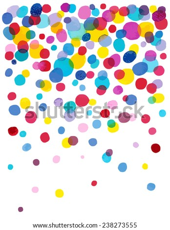 Bright Spot watercolor dot background.  - stock vector