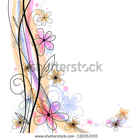 Bright spring floral background with pink flowers. Eps10 - stock vector