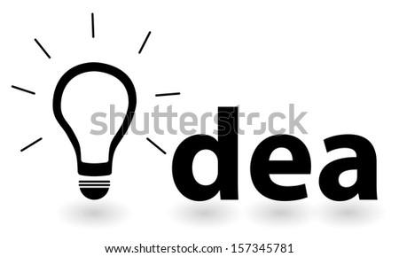Bright Successful Idea Of An Intelligent Person - stock vector
