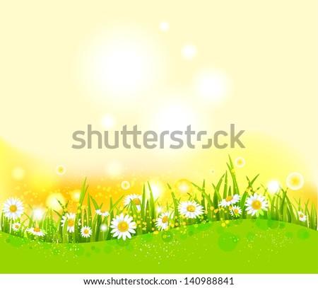 Bright summer background - stock vector