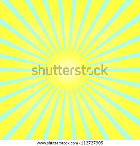 bright sun in the sky - stock vector