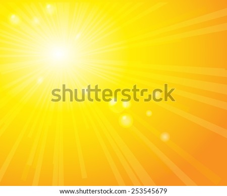 Bright sunny days sunset sky orange background for illustrations.Sunlight.