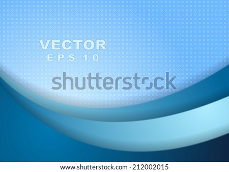 Bright tech vector wave background with circle texture - stock vector